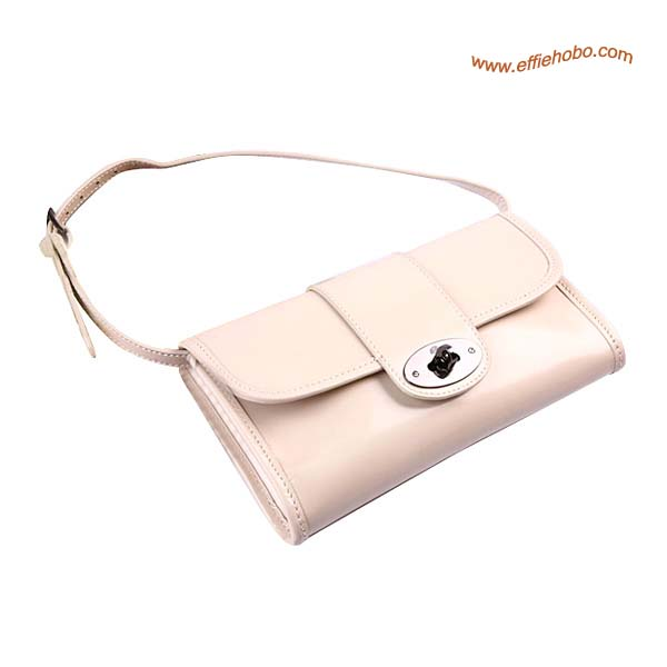 Mulberry Daria Patent Leather Belt Bag White