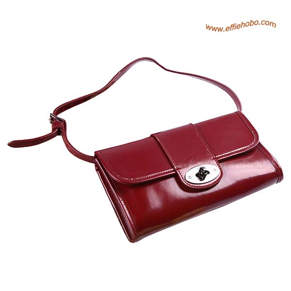 Mulberry Daria Patent Leather Belt Bag Red