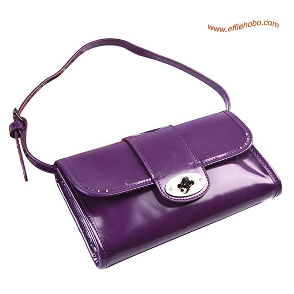 Mulberry Daria Patent Leather Belt Bag Purple