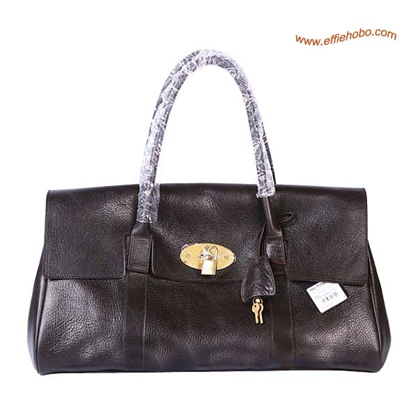 Mulberry Oversized East West Bayswater Shoulder Bag Brown