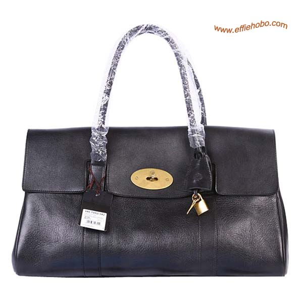 Mulberry Oversized East West Bayswater Shoulder Bag Black