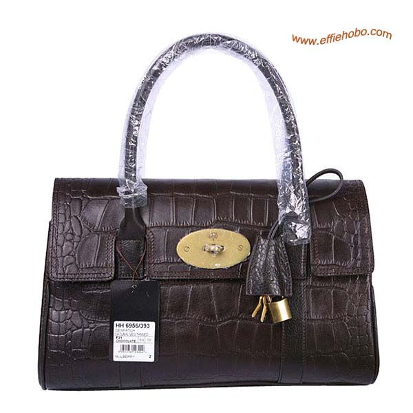 Mulberry East West Bayswater Shoulder Bag Brown