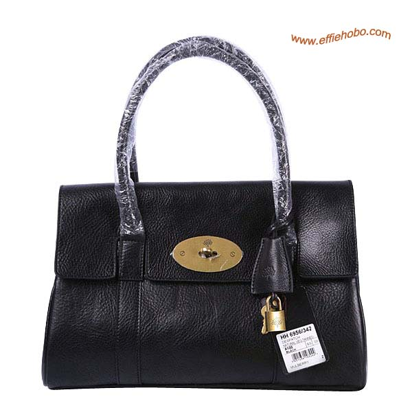 Mulberry East West Bayswater Shoulder Bag Black