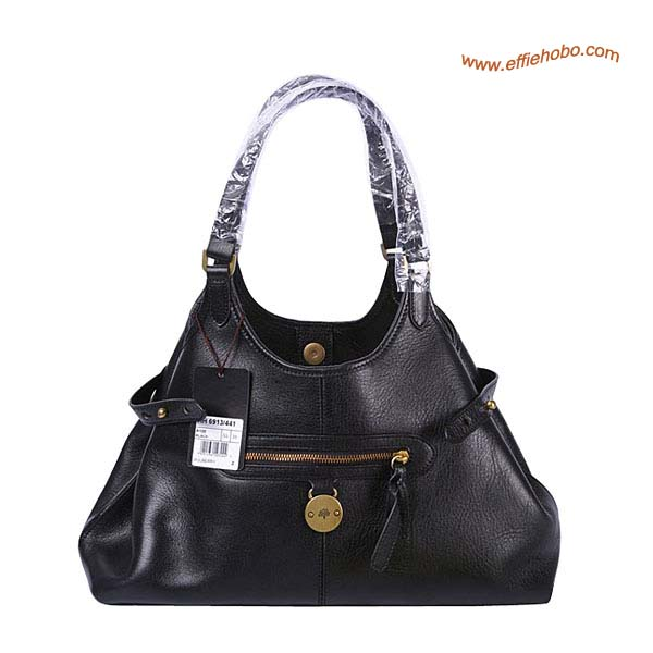 Mulberry Clasisc Somerset Leather Tote Bag Black