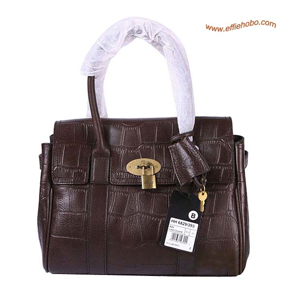 Mulberry Smaller Bayswater Shoulder Bag Brown