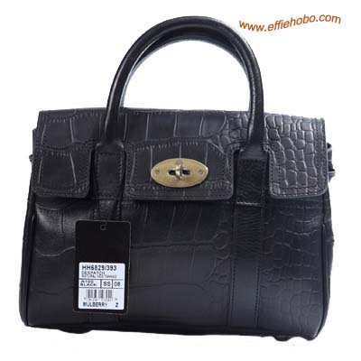 Mulberry Smaller Bayswater Shoulder Bag Black