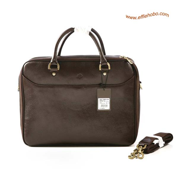 Mulberry Men's Small Oliver Laptop Briefcase Brown