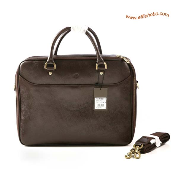 Mulberry Men's Large Oliver Laptop Briefcase Brown