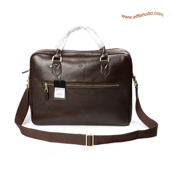 Mulberry Men's Small Heathcliffe Laptop Briefcase Brown
