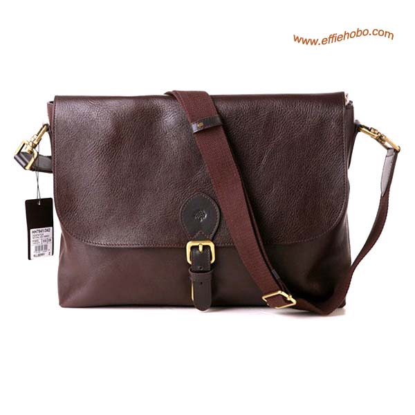Mulberry Men's Albert Satchel Messenger Bag Brown