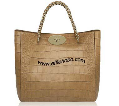 Mulberry Cecily Tote Bag Oak Soft Croc Print