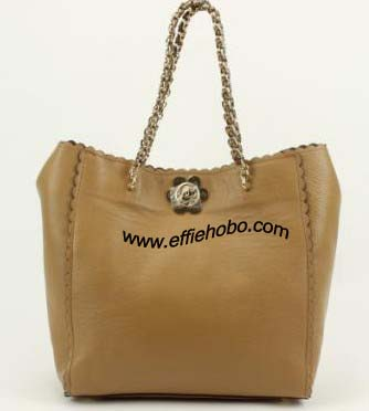 Mulberry Cecily Flower Clasp Tote Oak Classic Calf Leather
