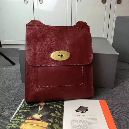 Classic Mulberry Antony Messenger Bag in Red Natural Leather