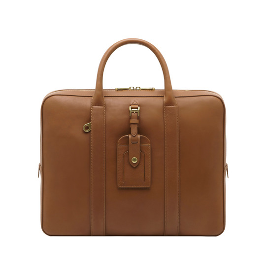 Mulberry Matthew Single Document Case Oak Micrograin Calf