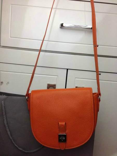 2014 Autumn/Winter Mulberry Tessie Small Satchel Bag in Orange Soft Leather