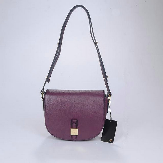 2014 Autumn/Winter Mulberry Tessie Small Satchel Bag in Purple Soft Leather