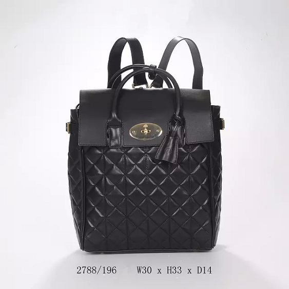 2014 Autumn/Winter Mulberry Large Cara Delevingne Bag Black Quilted Lamb Nappa