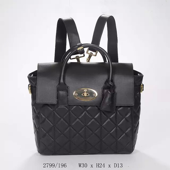 2014 Autumn/Winter Mulberry Cara Delevingne Bag Black Quilted Nappa Leather
