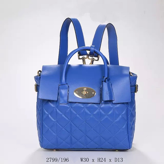 2014 Autumn/Winter Mulberry Cara Delevingne Bag Indigo Quilted Nappa Leather