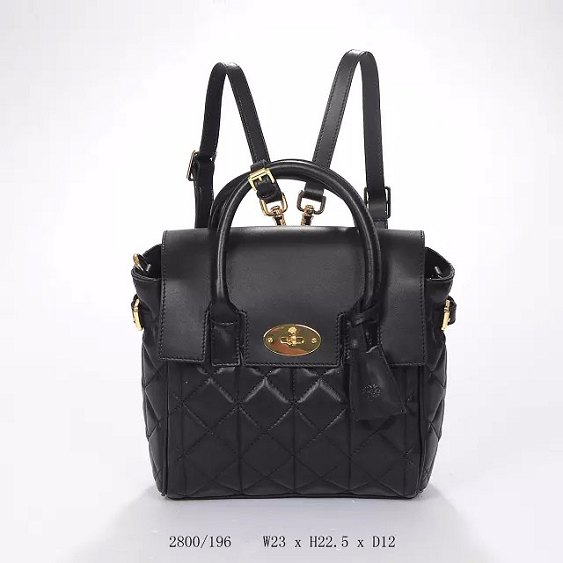 2014 Autumn/Winter Mulberry Mini Cara Delevingne Bag Black Quilted Nappa