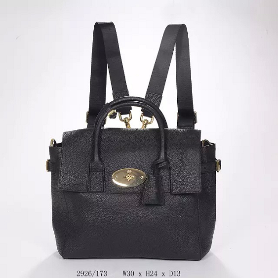 2014 Autumn/Winter Mulberry Cara Delevingne Bag Black Natural Leather