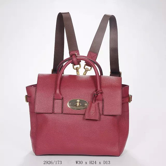 2014 Autumn/Winter Mulberry Cara Delevingne Bag Oxblood Natural Leather