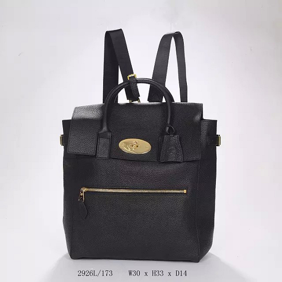 2014 Autumn/Winter Mulberry Large Cara Delevingne Bag Black Natural Leather