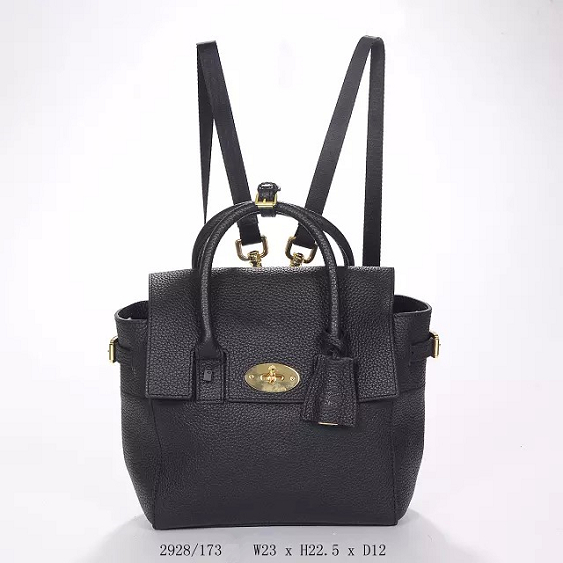 2014 Autumn/Winter Mulberry Mini Cara Delevingne Bag Black Natural Leather