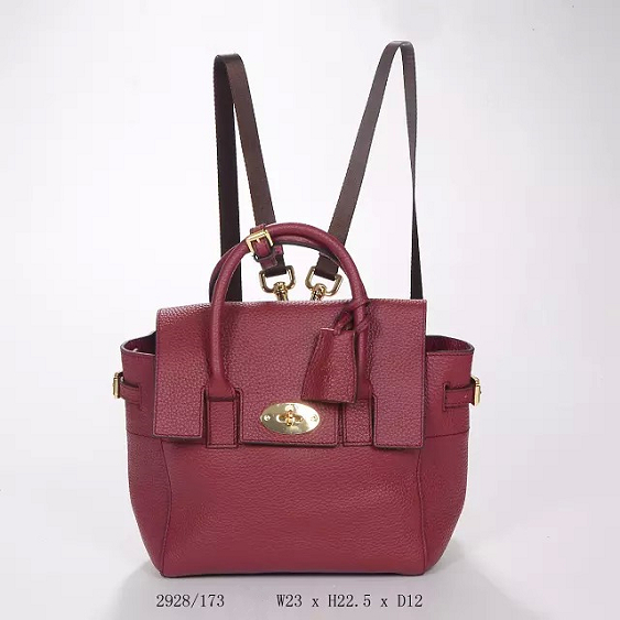 2014 Autumn/Winter Mulberry Mini Cara Delevingne Bag Oxblood Natural Leather