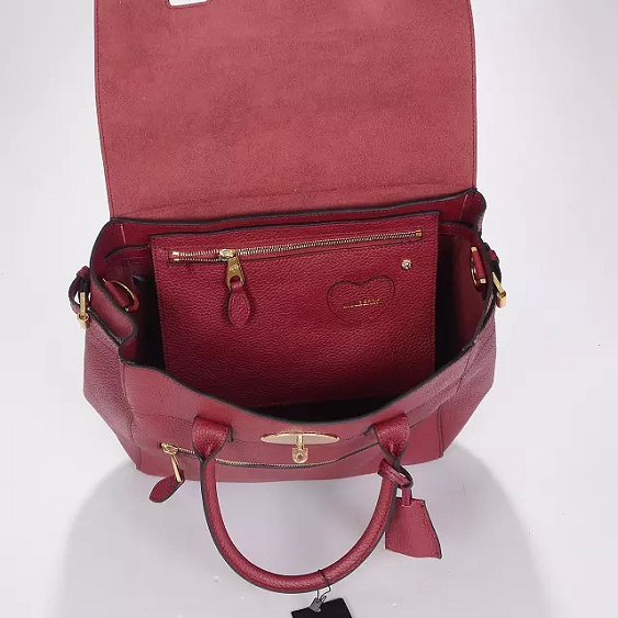 Mulberry Fall/Winter 2014-Large Cara Delevingne Bag Oxblood Natural Leather