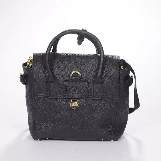 Mulberry Fall/Winter 2014-Mini Cara Delevingne Bag Black Natural Leather