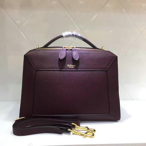 2017 Mulberry Small Hopton Bag in Oxblood Small Classic Grain Leather