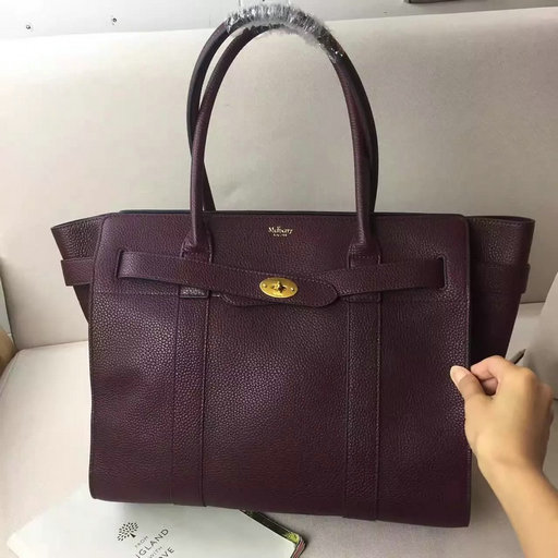 Winter 2016 Mulberry Zipped Bayswater Oxblood Classic Grain Leather