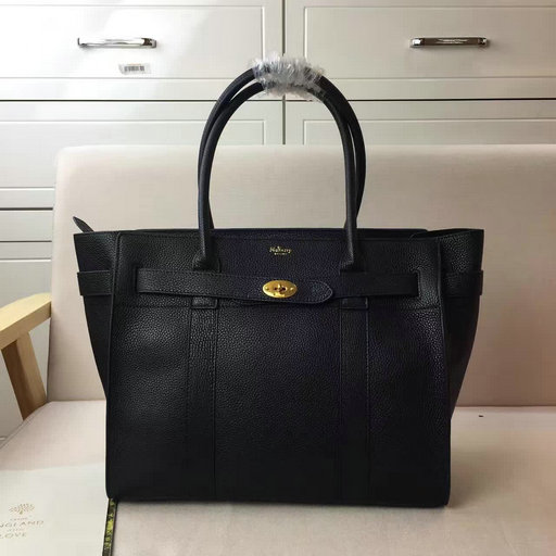 Winter 2016 Mulberry Zipped Bayswater Black Classic Grain Leather
