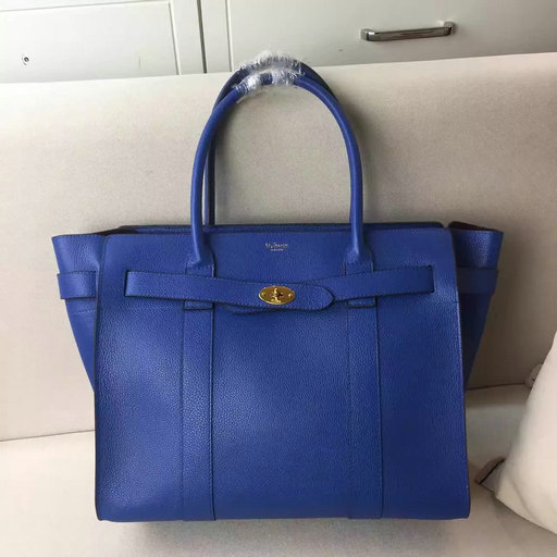 Winter 2016 Mulberry Zipped Bayswater Porcelain Blue Classic Grain Leather