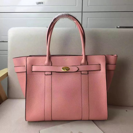 Winter 2016 Mulberry Zipped Bayswater Macaroon Pink Classic Grain Leather