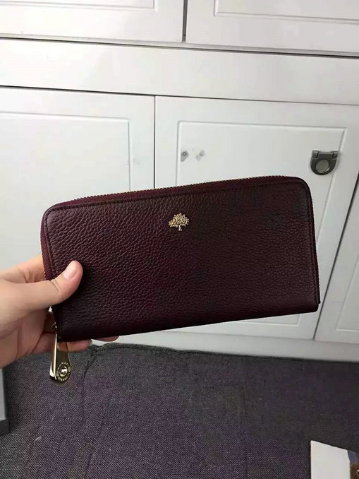 2015 A/W Mulberry Tree Zip Around Wallet Oxblood Grained Leather