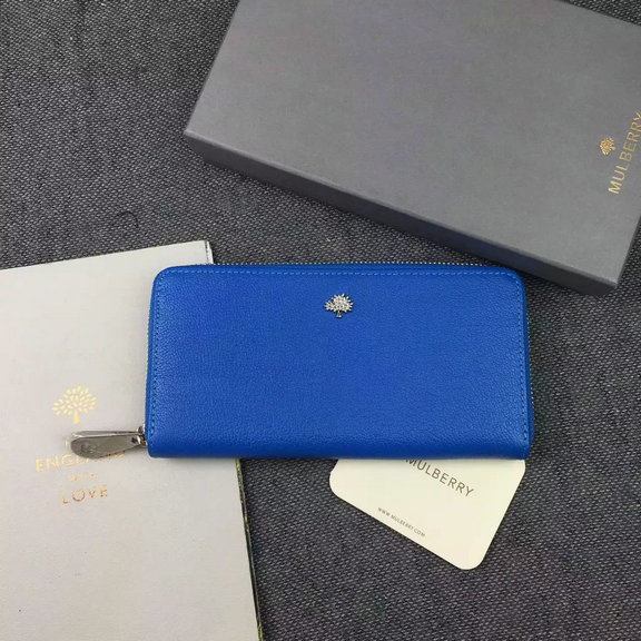 2015 A/W Mulberry Tree Zip Around Wallet Blue Leather