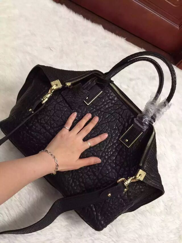 2015 A/W Mulberry Small Alice Zipped Tote Black Shrunken Calf