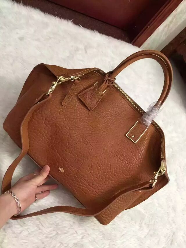 2015 A/W Mulberry Small Alice Zipped Tote Oak Shrunken Calf