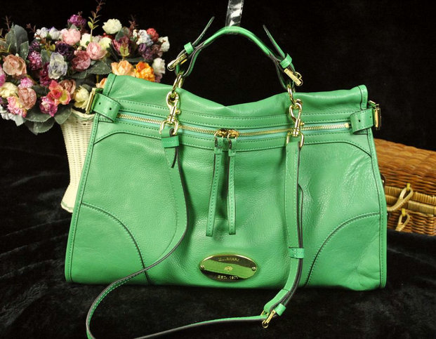 Mulberry Oversized Taylor Satchel Bag Green