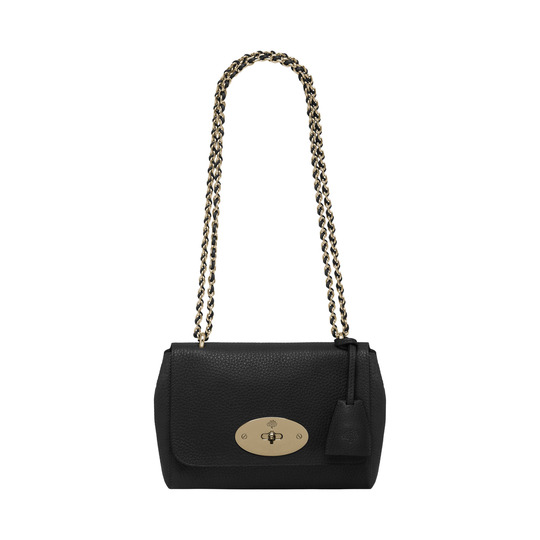 2014 Latest Mulberry Lily Black Soft Grain Leather with Soft Gold