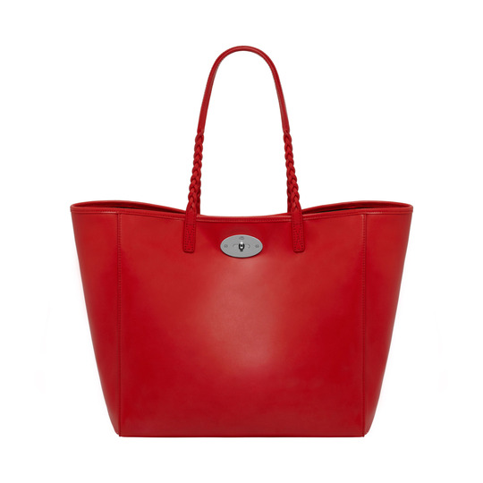 2014 Latest Mulberry Medium Dorset Tote Bright Red Soft Nappa Leather