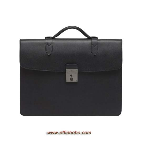 Mulberry Single Briefcase Black Classic Printed Calf