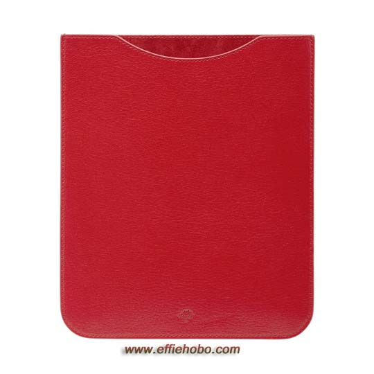 Mulberry Simple iPad Sleeve Bright Red Shiny Goat