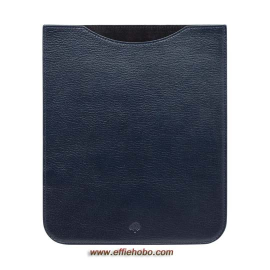 Mulberry Simple iPad Sleeve Midnight Blue Shiny Goat