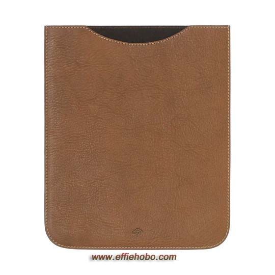 Mulberry Simple iPad Sleeve Oak Natural Leather