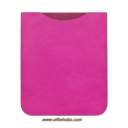 Mulberry Simple iPad Sleeve Mulberry Pink Glossy Goat