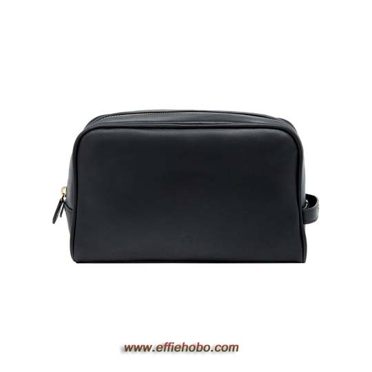 Mulberry Wash Case with Handle Black Soft Nappa