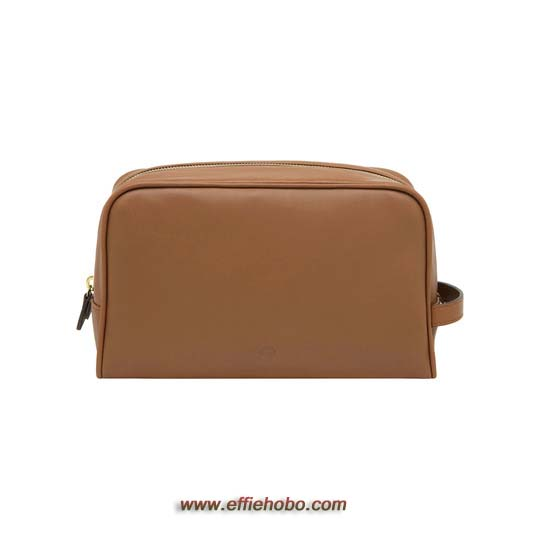 Mulberry Wash Case with Handle Oak Soft Nappa